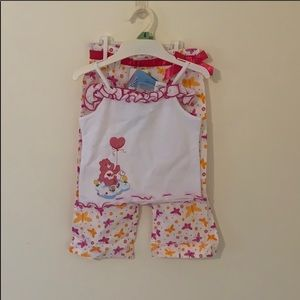 Care Bears 2 piece outfit size 4T